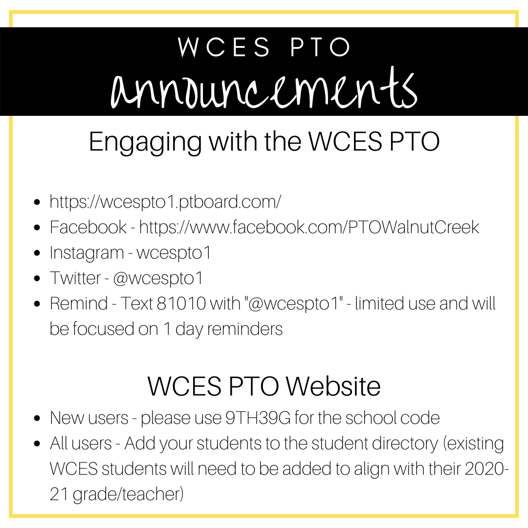 Walnut Creek Elementary PTO